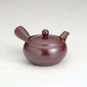 Banko-yaki Kyusu teapot - Like iron glaze (360cc) - soko ami stainless steel net
