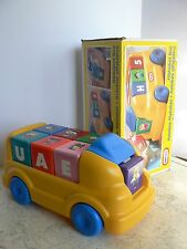 RARE Vintage LITTLE TIKES 1998 Alphabet Bus Ride On Car NUMBERS Original Box HTF