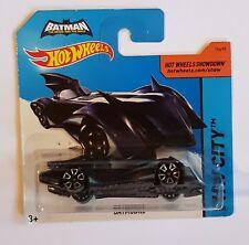 2015 Hot Wheels #63/250 Blue Batmobile Batman The Brave and The Bold Short Card