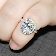 2.20Ct Oval Brilliant Cut VVS1/D Diamond Engagement Ring 14K White Gold Finish