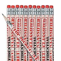 Pack of 12 - Top Secret Pencils - Detective Police Spy Party Loot Bag Fillers