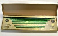 Mid-Century Stencil Kit Ruler Set of 6 Alphanumeric C-Thru Vintage Original Box