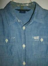 Ralph Lauren Long Sleeved Blue Chambray Shirt Size 6X EUC