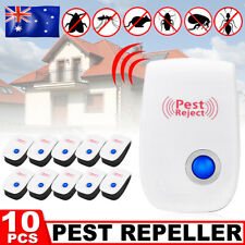 4x Pest Repeller Reject Ultrasonic Electronic Mouse Rat Mosquito Insect Control