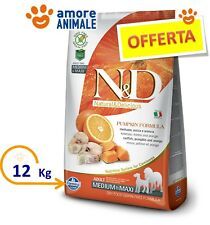Farmina N&D Grain Free Pumpkin Adult Medium Maxi Merluzzo, Zucca e Arancia 12 kg