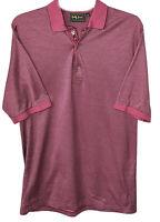 Bobby Jones medium polo golf shirt purple pink golfer placket hemmed sleeve