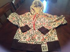 Roxy White Orange Brown Hoodie Size M