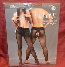 DOYEAH Open Crotchless men or women Sheer STW Pantyhose 10D BLACK Footless Z2