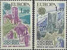 Timbres Europa Chateaux Eglises Andorre 261/2 ** lot 1577