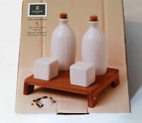 DINNERWARE-Gibson Home /Table Compliments-5 piece condiment set with tray