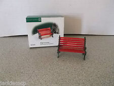 Dept 56 VILLAGE Accessories Collection Red Wrought Iron Park Bench 56-56445