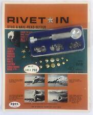 Rivet-In Stud & Nail- Head Setter Jackets Shirts Fabric Leather Belts Pants