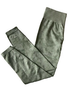 Gymshark Camo Seamless Leggings Sage Green Size XL NWT