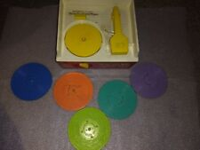 Vintage Toy 1971 Fisher Price Music Box Record Player 5 discs - has fault