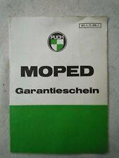 alter Garantieschein Puch Moped Steyr-Daimler-Puch Graz von 1955 (A1820)