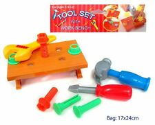 NEW TOOL SET Bench Hammer Screwdriver Pretend Toddler Plastic Toy Little Builder