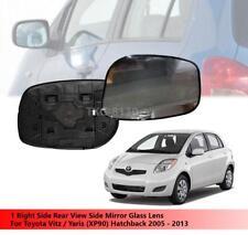 1 Right Side Mirror Glass Lens Use Toyota Vitz/Yaris (XP90) Hatchback 2005-2013