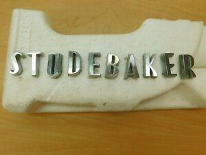 """""""STUDEBAKER"""" HOOD OR TRUNK LETTERS - FULL SET 1957-1964 58SC1-1M9"""