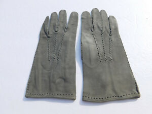 *DESIGNER LADIES GREEN SUEDE DRIVING GLOVES UNLINED SIZE 6.5