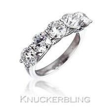 Diamond 5 Stone Ring 3.00ct Genuine Round Brilliant Cut F VS in 18ct White Gold