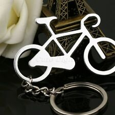 Classic Silver Bike Bicycle Cycling Alloy Pendant Keychain Keyring Key Fob Gift