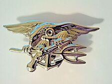 U.S. Navy Seals Badge Silver 2 3/4