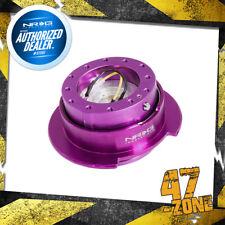Purple Body Purple Ring 6 Holes NRG Steering Wheel Quick Release 2.5