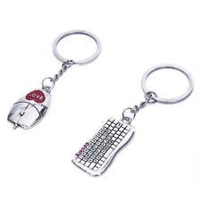 Fashion Metal Bag Lovers Hanging Couples Gift Mouse Keyboard Pendant Keyring