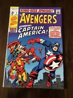 AVENGERS KING SIZE SPECIAL #3 MARVEL 1969 Silver Age CAPTAIN AMERICA JOINS!