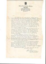 1928 WMBI  Moody Bible Institute Chicago. QSL radio letter