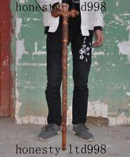 China Huanghuli Wood carved bats Phoenix deer Walking stick crutch Crutches cane