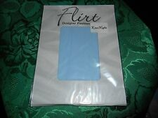 SKY BLUE LADIES DESIGNER SOCKS KNEE HIGH FROM FLIRT LIKE POP SOCKS 1 SZ AS SHOWN