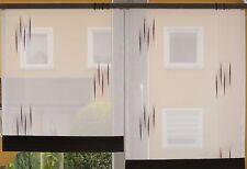 Scheibengardinen 2 x Breite 55 cm x Höhe 67/78 cm- neu - modern Gardine Paneel