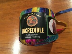 Lion Brand INCREDIBLE Vintage Ribbon Yarn #201 RAINBOW