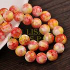 Hot 20pcs 12mm Round Charms Glass Loose Spacer Beads Red Yellow Colorized
