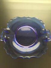 Blue Depression Glass Platter