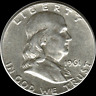 "A 1961 P Franklin Half Dollar 90% SILVER US Mint ""About Uncirculated"""