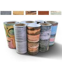 2PCS 3D 20x50cm Adhesive Tile Art Floor Wall Stickers DIY Floor Pattern Decor