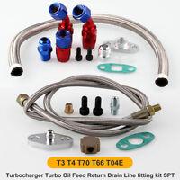 Universal Turbo Oil Line Kit Feed Line + Return Line kits T3 T4 T70 T66 New