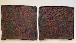 "2 Ralph Lauren Home Paisley Throw Pillow Covers ~ PAIR 20"""