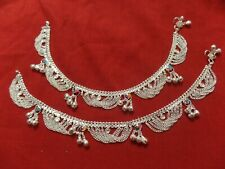 """silver bells India barefoot jewelry 10"""" Ethnic saree boho anklet ankle bracelet"""