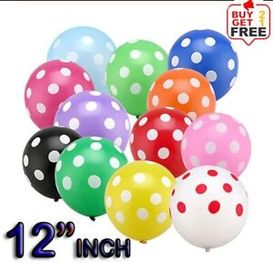 "12""Inch Polka Dot Latex Helium Spotty Balloons Quality Party Birthday or Wedding"