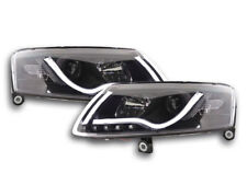 Scheinwerfer Daylight LED Lightbar TFL-Optik Audi A6 4F Bj. 04-08 schwarz