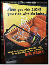 When You Ride Alone with Bin Laden ✎SIGNED✎ by BILL MAHER Hardback 1st Edition