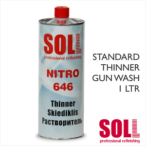 SOLL NITRO 646 Standard Cellulose Thinner 1 L GUN WASH CLEANING PAINT SOLVENT 1L