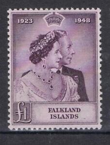 Falkland Islands 1948 Silver Wedding High Value SG 167 MNH