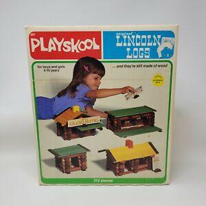 Vintage 1978 Playskool #887 Original Lincoln Logs Toys Incomplete 168 pcs