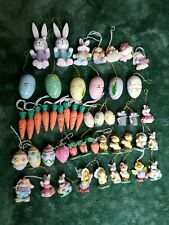 49 Spring Holiday Easter Miniature Ornaments Bunnies chicks eggs carrots