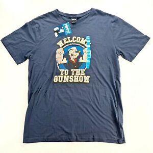 POPEYE Mens Navy Blue T Shirt Size Large NWT