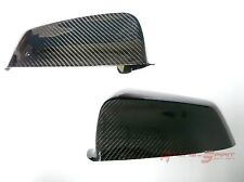 SPORT REAL GLOSSY CARBON FIBER SIDE MIRROR COVER FOR 10-12 BMW 5-SERIES E60 LCI
